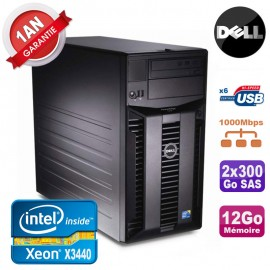 Serveur DELL PowerEdge T310 Xeon Quad Core X3440 12Go Ram Ecc 2x 300Go SAS