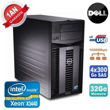 Serveur DELL PowerEdge T310 Xeon Quad Core X3440 32Go Ram Ecc 4x 300Go SAS