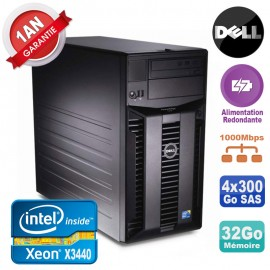 Serveur DELL PowerEdge T310 Xeon X3440 32Go 4x 300Go Alimentation Redondante