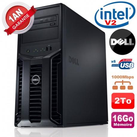 Serveur DELL PowerEdge T110 II Xeon QuadCore E3-1220 V2 16Go Ram Ecc 2To SATA