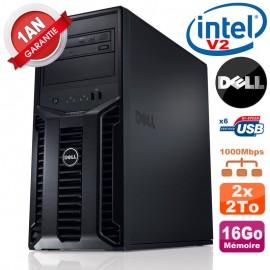 Serveur DELL PowerEdge T110 II Xeon QuadCore E3-1220 V2 16Go Ram Ecc 2x 2To SATA