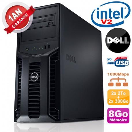 Serveur DELL PowerEdge T110 II Xeon E3-1220 V2 8Go Ram 2x2To SATA + 2x300Go SAS