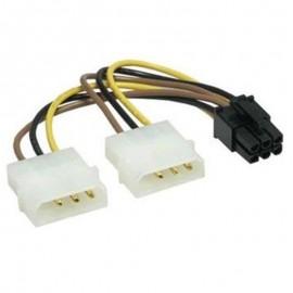 Câble 2x Molex 6-Pin IDE CompuPack A001-W011 14cm Adaptateur Nappe Alimentation