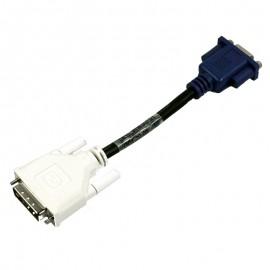 Câble Adaptateur Dell DVI male vers VGA 0J0791 J0791 16cm
