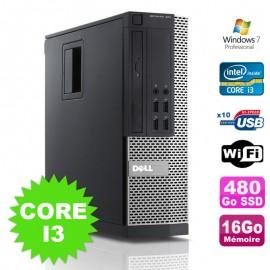 PC Dell Optiplex 990 SFF I3-2120 3.3GHz 16Go Disque 480Go SSD DVD Wifi W7