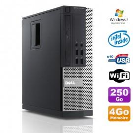 PC Dell Optiplex 990 SFF Intel G630 2.7GHz 4Go Disque 250Go DVD Wifi W7