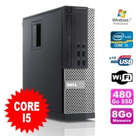 PC Dell Optiplex 990 SFF I5-2400 3.1GHz 8Go Disque 480Go SSD DVD Wifi W7