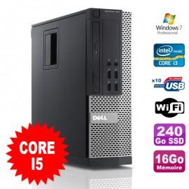 PC Dell Optiplex 990 SFF I5-2400 3.1GHz 16Go Disque 240Go SSD DVD Wifi W7
