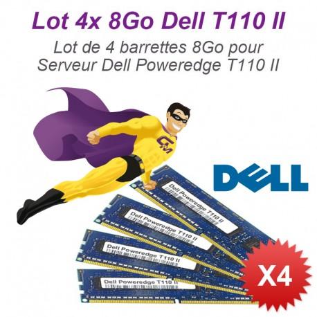 Lot 4x 8Go 32Go Ram Serveur Dell T110 II DIMM 240-PIN DDR3 PC3-10600E ECC 2Rx8