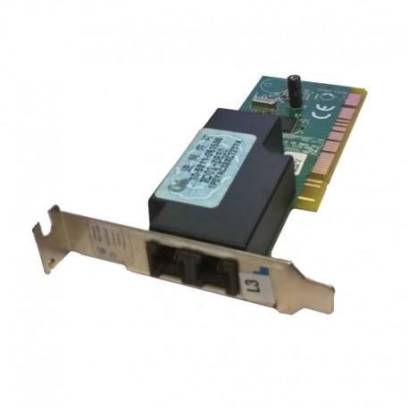 Carte 2x Ports Modem 56K Conexant RD01-D850 0RJ309 DATA FAX PCI Dell Low Profile