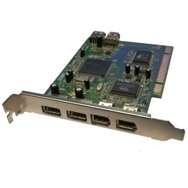 Carte PCI 3x Ports Firewire 3x Ports USB T-28-S-009797 Caméscope Vidéo Hot-Plug