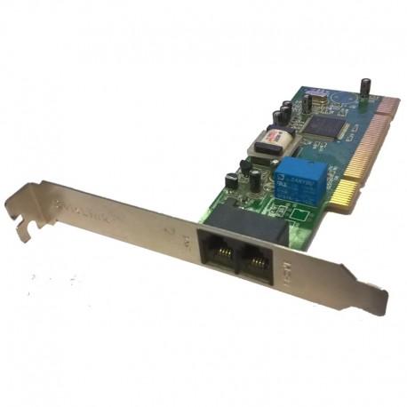 Carte Modem 56K Conexant OvisLink CX11252-41Z DATA FAX PCI Equerre Longue