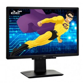 """Ecran PC Pro 22"""" FUJITSU B22W-6 LCD LED TFT VGA DVI Audio VESA Widescreen Noir"""