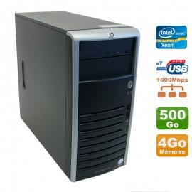 Serveur HP Proliant ML110 G5 Xeon X3330 2.66GHz 4Go Disque 500Go SATA