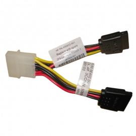 Câble Molex vers 2x SATA HP Amphenol 456853-001 457899-001 10cm Adaptateur ML110
