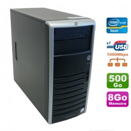 Serveur HP Proliant ML110 G5 Xeon X3330 2.66GHz 8Go Disque 500Go SATA
