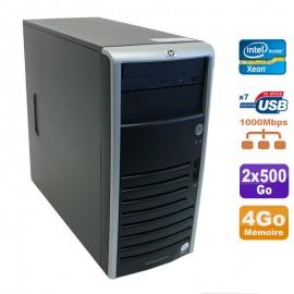 Serveur HP Proliant ML110 G5 Xeon X3330 2.66GHz 4Go Disques 2x500Go SATA