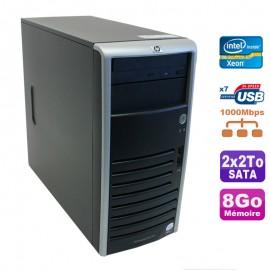 Serveur HP Proliant ML110 G5 Xeon X3330 2.66GHz 8Go Disques 2x2000Go SATA