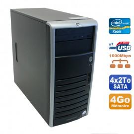 Serveur HP Proliant ML110 G5 Xeon X3330 2.66GHz 4Go Disques 4x2000Go SATA