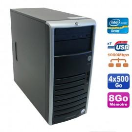 Serveur HP Proliant ML110 G5 Xeon X3330 2.66GHz 8Go Disques 4x500Go SATA