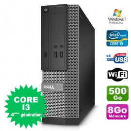 PC Dell Optiplex 3020 SFF I3-4150 3.5GHz 8Go Disque 500Go DVD Wifi W7