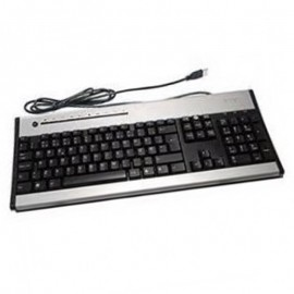 Clavier Azerty Noir Argent USB ACER KU-0355 KB.KUS03.222 PC Keyboard 104 Touches