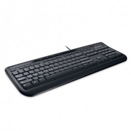 Clavier PC Azerty Noir USB Microsoft Keyboard 600 1366 ANB-00001 105 Touches