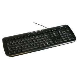 Clavier Azerty Noir USB PORT DESIGNS 180543 PC Keyboard 104 Touches
