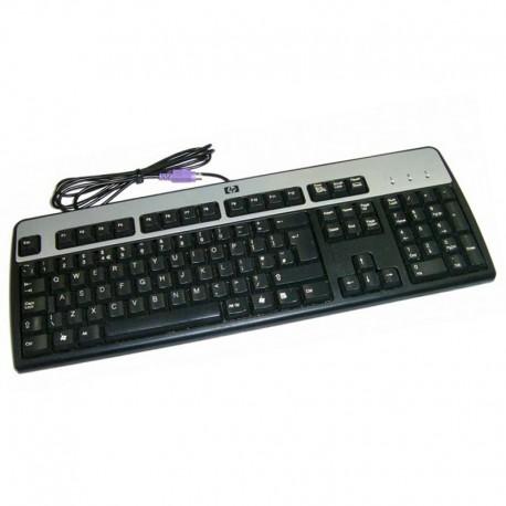 Clavier Azerty Noir Argenté PS/2 HP SK-2880 434820-002 PC Keyboard 104 Touches