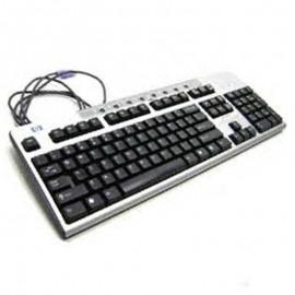 Clavier Azerty Noir Argenté PS/2 HP SDM4700P 271122-031 PC Keyboard 105 Touches