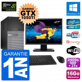 PC Tour Dell 7020 Gaming GTX 1050Ti i7-4790 RAM 16Go 240Go SSD + 2To Windows 10