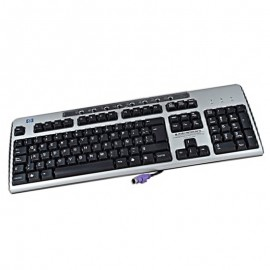 Clavier Azerty Noir Argenté PS/2 HP KB-0133 323686-031 PC Keyboard 104 Touches
