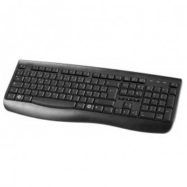 Clavier Azerty Noir USB Slim KD-2101 224653 PC Keyboard 108 Touches