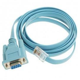 Câble Adaptateur DB9 vers RJ-45 CISCO 72-3383-01 120cm Bleu Clair NEUF