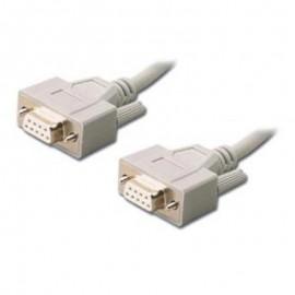 Câble Adaptateur Modem DB-9 Femelle / DB-9 Femelle 100cm Gris