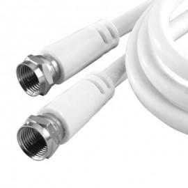 Câble Adaptateur Externe RG-6U COAXIAL VD-VH606WHR 2702-1060 1.80m Blanc