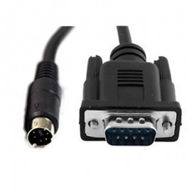 Câble Adaptateur Convertisseur Externe S-Video 6-Pin vers DB-9 Mâle 18cm