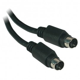 Câble Adaptateur Externe S-Video 4-Pin Mâle vers S-Video 4-Pin Mâle 1.50m Noir