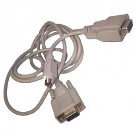 Câble Adaptateur DB-9 Femelle vers DB-9 Femelle + Mini DIN 8-Pin Mâle 2.5m Gris