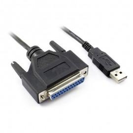 Câble Adaptateur Externe 1x USB 2.0 A Mâle 1x Port Parallèle DB25 RS232 180cm