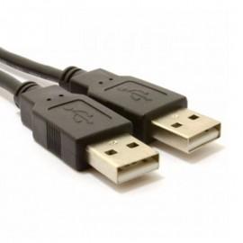 Câble Extension Externe 1x USB 2.0 A Mâle vers 1x USB 2.0 A Mâle 80cm Noir