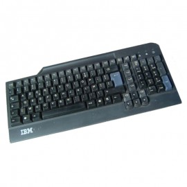 Clavier Azerty Noir USB IBM SK-8806 FRU 19K1769 PC Keyboard 104 Touches