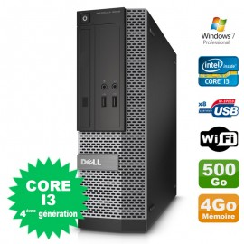 PC Dell Optiplex 3020 SFF Core I3-4130 3.4GHz 4Go Disque 500Go DVD Wifi W7