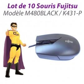 Lot 10x Souris Optique USB Fujitsu M480BLACK K431-P S26381-K431-V100 3 Boutons