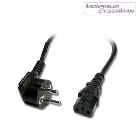 Câble Alimentation Secteur Pc Mac Ecran Imprimante Fax Scanner Cordon Noir