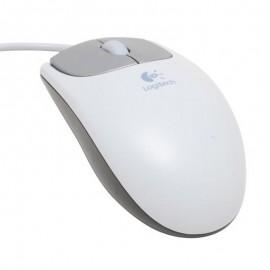 Souris Optique Filaire USB Logitech M-BJ58 830967-0000 3 Boutons Blanc Gris PC