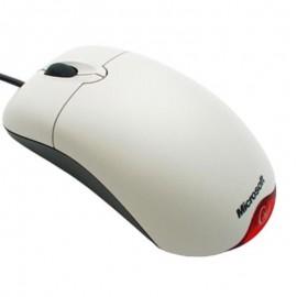 Souris Optique Filaire USB Microsoft X802382 3 Boutons Blanc Gris Rouge PC Mouse