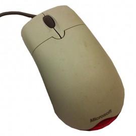 Souris Optique Filaire USB Microsoft X08-18741 3 Boutons Beige Gris Rouge Mouse
