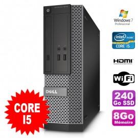 PC DELL Optiplex 3010 SFF Intel I5-2400 DVD 8Go 240Go SSD HDMI Wifi W7