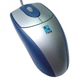 Souris Optique Filaire USB A4Tech SWOP-25PU 3 Boutons Gris Argenté Bleu 400-DPI